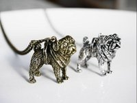 Wholesale idea charms for sale - Group buy DANGGAO Handmade D Pug pendant Necklace women chain choker necklace charm jewelry cute Pet Lovers Gift Idea