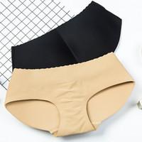 Wholesale waist hip up underwear resale online - Lady triangle Hip lifter briefs women sexy low waist buttocks underwear butt lifter panties Ass enhancer Up Hip WWA201