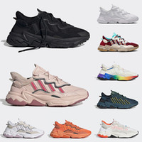 Wholesale women s cycling resale online - 2020 Pride M Reflective Xeno Pusha T x Ozweego Women Mens Running Shoes Halloween Tones Footwear White Triple s Black Trainers Sneakers