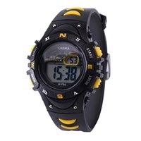 reloj de entrega al por mayor-Reloj para niños Reloj despertador multifunción Estudiante Impermeable Deportes Moda Reloj electrónico Reloj de pulsera Reloj Dropship # 7