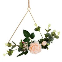 Wholesale artificial roping for sale - Group buy Nordic Style Creative Wall Hangings Ins Wrought Iron Garland Hemp Rope Hanging Artificial Flower Decoration Home Wall Hangings