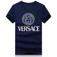 güzel rahat kıyafetler toptan satış-Toptan Büyük Boy Yılan Kafası Güzel Kız Marka Yuvarlak Boyun T-shirt Sokak Giyim Avrupa İtalya Erkekler Pamuk Casual Kadın Tee T-shirt S-5XL