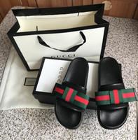 bags bows toptan satış-En kaliteli slayt yay erkek ve kadın sandalet rahat moda klasik orijinal kutusu ve toz torbası hediye çantası ile
