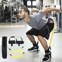 brust-expander-bands großhandel-Sprungtrainer Gummibänder Fitness Expander Widerstandsbänder Set für Basketball Volleyball Fußball Leg Agility Training