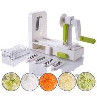Wholesale veggie slicers for sale - Group buy Folding Blade Vegetable Spiralizer Veggie Pasta Spaghetti Vegetable Spiral Slicer Cutter Carrot Zucchini Noodler Maker Kitchen Tools