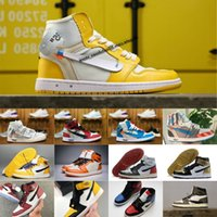 Wholesale canvas man shoes new style resale online - Hot New style Scotts X High OG Mid Basketsball Shoes Royal Banned Bred off Black White New Color Men s For Resale