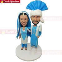 Wholesale head accessory bride for sale - Group buy Indian Sikh Wedding Topper Personalized Wedding Cake Topper Bobble Head Indian Bride Sikh Groom Sikh Wedding