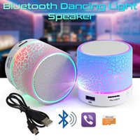 Wholesale phones small speakers for sale - Group buy Portable Wireless Speaker Bluetooth Mini Speakers LED Small Stereo Sound Music Audio With Mic FM TF Card USB For iPhone Mobile Phone PC