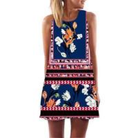 lustige gedruckte kleider großhandel-Alisister Banana Print Frauen Kleid 3d Print Lustige Böhmische Strandkleider Weiblich A Line Party Sommerkleider Dashiki Boho Vestidos