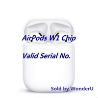ingrosso il suono del bluetooth migliore-2019 W1 Chip Airpods con numero di serie valido Contattatemi per l'immagine reale Auricolare wireless Touch, migliore qualità del case, qualità dei suoni superiori