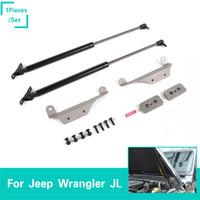 ingrosso parti di alta qualità auto-Copertura Idraulica Rod Asta idraulica per Jeep Wrangler JL 2018 Accessori esterni auto di alta qualità