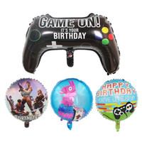 balões infláveis do elogio venda por atacado-64 balões * 40CM Fortnite Quinzena 4 Tipos Fort nite Video Game Game Controller alumínio Filme balões balões Xmas dia das bruxas partido do ano novo