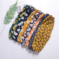 Wholesale flower harem for sale - 2019 Summer new children s anti mosquito air conditioning pants baggy knickerbockers thin beach trousers cotton Toddler PP Pants