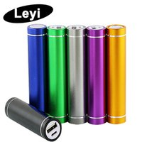 Wholesale cylinder portable charger online – cylinder shape mah Portable Mobile Power Bank V A USB Battery Charger power bank for your Phone