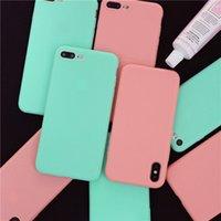 bolsa de dulces celular al por mayor-Carcasa del teléfono celular móvil de silicona suave TPU color del caramelo cubierta delgada para iphone XS max XR X iphone 6 6S 7 8 plus 5S con bolso opp