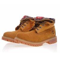 motorräder latex groihandel-Timberland Canvas Stiefel Schuhe Vulcanized Eversion Mode Schuhe für Männer Frauen Motorradstiefel Westernstiefel Indianer Stil