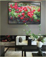 grandes pinturas a óleo emolduradas venda por atacado-Flores de florescência da pintura a óleo sobre tela parede Pictures Pintura para pinturas Sala emoldurados por viver parede da sala de tela grande barato arte