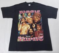 eski tişört hip hop toptan satış-Vintage Tupac x Ünlü BÜYÜK Gömlek Sz XL 90 s Hip Hop Rap Tee Snoop Dogg Lil Kim Kısa Kollu Artı Boyutu t-shirt