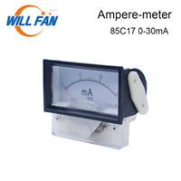dc panel ampermetre toptan satış-Will Fan DC Amper Metre 0-30mA 85c17 Analog Panelmetre Güncel Ampermetre için CO2 Lazer Engraver Kesim Makinası