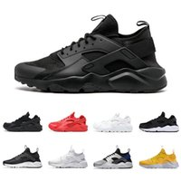 Wholesale black huarache resale online - huarache ultra running shoes for men women triple black white red grey breathable fashion sports sneakers runners