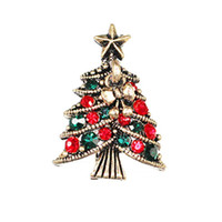 Wholesale wedding brooches set resale online - fashion love designer wedding bridal accessories charms Bow Clothes Ornaments Originality Christmas Tree Brooch Jewelry sets for women men