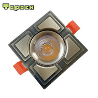 Wholesale light mounting clips online - Topoch LED Square Downlight Pack Bronze Golden W CREE COB CNC Machining Aluminum Spring Clips Mount AC100 V for Interior Lighting