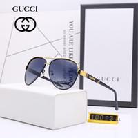 siyah mini tutu toptan satış-M-10013 lüks erkekler marka tasarımcı sunglass tutum lens üzerinde güneş gözlüğü kare logo erkekler marka tasarımcı güneş gözlüğü parlak Siyah altın Marka Yeni
