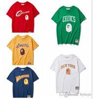 Wholesale cartoon crew necks for sale - Group buy 2019 Summer Teenager Cotton Cartoon Print T Shirts Men s Casual Round Neck Short Sleeve T Shirts
