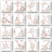 Wholesale valentine pillow case for sale - Group buy 26 Letters Pillow Case flower Cushion pillow Cover Pillowslip Bedding decor valentines gift Sofa Home car Decor cm FFA1578