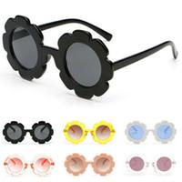 niedliche jungen sonnenbrille großhandel-Sonnenblume Runde Sonnenbrille Nette Jungen Kind Mädchen UV400 Baby Brille Brillen Geschenk Outdoor Sports Sonnenbrille KKA7047