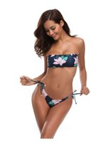 peito de bikini quente venda por atacado-New Black Flower Breast-limpar, separar Sexy Flower Shredding Moda Reunindo Bikini Natação Suit, imersão em Hot Spring Beach