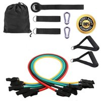 Wholesale Latex Resistance Bands Set Workout Exercise Pilates Yoga Crossfit Workout Bands Fitness Tubes Pull Rope set