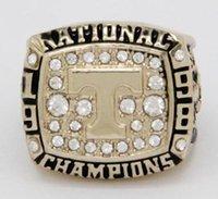 1998 ring großhandel-Echt fein Großhandel versandkostenfrei 1998 Tennessee University Champion Ring Meisterschaft Ring Herrenringe