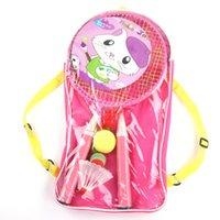 ingrosso g1 giocattolo-Il nuovo cartone animato bambini racchetta da badminton racchetta vestito multicolore giocattoli per bambini