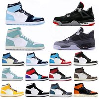 Wholesale basketball shoes light up resale online - 4 s Black Cement What The s Travis Scotts Grey Mens Basketball Shoes UNC Bred s Concord Men Sports Sneakers