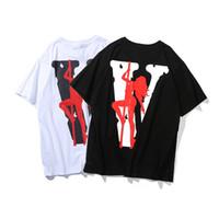 boru kızı toptan satış-Vlone Çelik Boru Kız T-shirt Erkek Kadın T Shirt Harajuku Tshirt Hip hop Streetwear Marka Yaz Pamuk Giyim Baskılı Tees Tops Moda