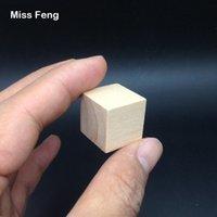 yığın oyunu toptan satış-B185 / 1 adet 2 cm Doğal Orijinal Ahşap Küp Jenga Blokları Beceri Yığını Yetiştirilen Oyuncaklar Kule çöküyor Oyunlar Çocuklar Hediyeler