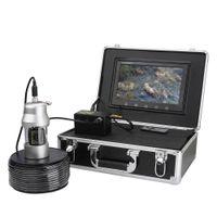рыболовная камера hd оптовых-PDDHKK 10'' HD Monitor 1000 TVL Waterproof Fishing Camera Fish Finder 20pcs White LEDs + 18pcs Infrared Lamp 360 Degree Rotating
