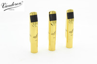 Wholesale alto saxophone accessories resale online - New Vandoren V16 Series Alto Tenor Soprano Saxophone High Quality Mouthpiece Metal Gold Lacquer Size Instrument Accessories