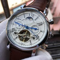 ingrosso moonphase orologi automatici-Top Luxury Watch Swiss Brand Mens Orologio meccanico automatico Time MoonPhase Impermeabile mani Casual Orologi sportivi militari Relogio Masculino