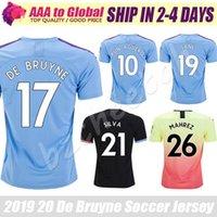 camisas de exterior venda por atacado-Top Thail Cidade jersey 2020 Camisas Para Casa Ausente Esterlina Mahrez Kun Aguero De Bruyne Vestuário Ao Ar Livre camisa De Futebol camisas de futebol