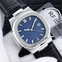 Wholesale modified auto for sale - Group buy Best Edition P th Anniversary Limited Edition Steel Case Blue Dial Miyota Modify SC Autoamtic Mens Watch Black Leather RF a1