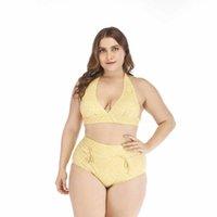 fett sexy bikini großhandel-2019 neue Größe sexy Bikini Badeanzug dick fett Frau Bikini hohe Taille Badeanzug