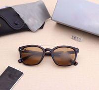 ingrosso bicchieri temperati blu-6 colori occhiali da sole di stile degli uomini classici della moda vetro temperato degli occhiali set completo di packaging di alta qualità degli occhiali da sole da esterno 8670.