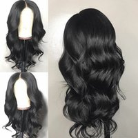 Wholesale body wave brazilian monofilament wig resale online - Pre Plucked Full Lace Human Hair Wigs Remy Brazilian Body Wave Wig Lace Front Wigs with Baby Hair Bleached Knots