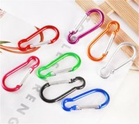 Wholesale convenient key rings resale online - mini Carabiner Ring Keyrings Key Chains Sport Carabiner Camp Snap Clip Hook Keychain Hiking Aluminum Convenient Hiking Camping Clip DHF117