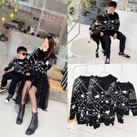 Wholesale mommy and me sweater for sale - Group buy Matching Family Outfits Star Pattern Sweater Mother Daughter Clothing Father Son Sweaters Warm Mommy And Me Clothes Family Look CJ191210