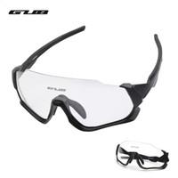 велосипедные солнцезащитные очки uv оптовых-Поляризованные очки для велоспорта ветрозащитные солнцезащитные очки Sun UV 400 для велосипеда Mountain Road bike Goggles Очки Myopia Frame