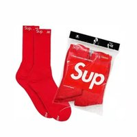 calcetines de algodón clásicos al por mayor-Nuevo hombre clásico rojo Calcetines marca Baloncesto S carta espesa que almacena los hombres y las mujeres largas de algodón calcetines toalla calcetines deportivos engrosamiento