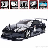 Wholesale speed remote toy cars for sale - Group buy HSP Racing Rc Drift Car wd Electric Power On Road Rc Car FlyingFish x4 vehicle High Speed Hobby Remote Control Car